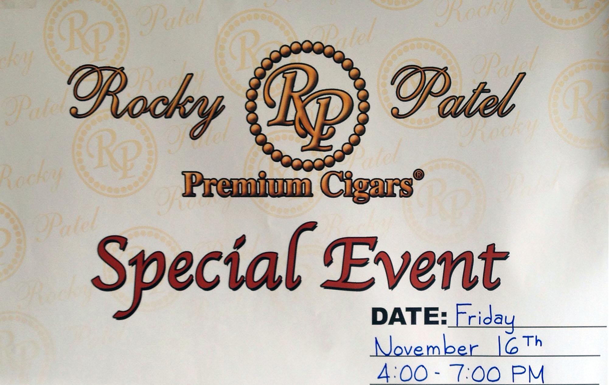 Rocky Patel Special Event, Nov 16 4-7pm